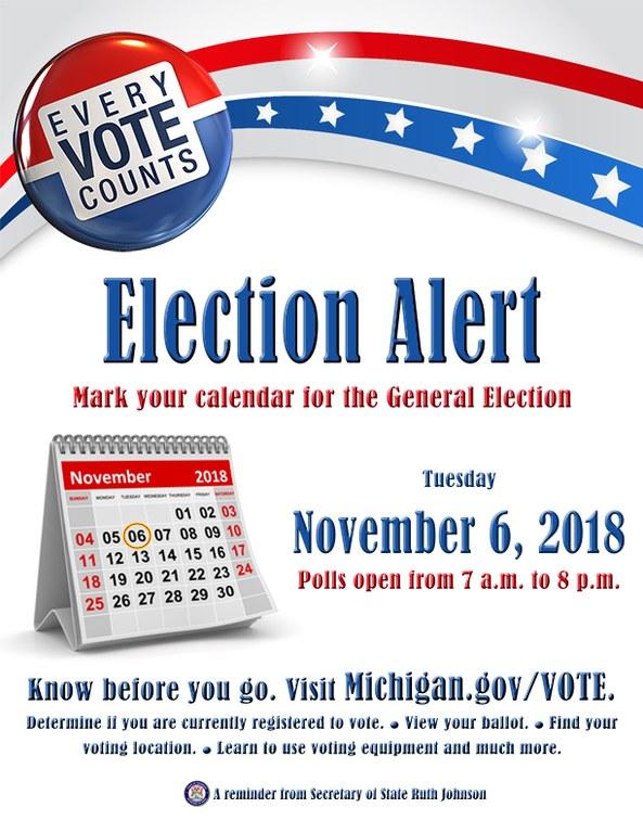 November 2018 Election Alert Flyer