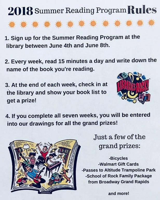 Summer Reading Information