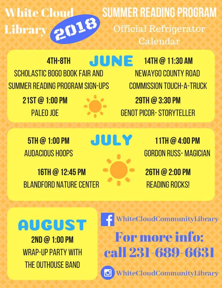 Summer Reading Program Schedule